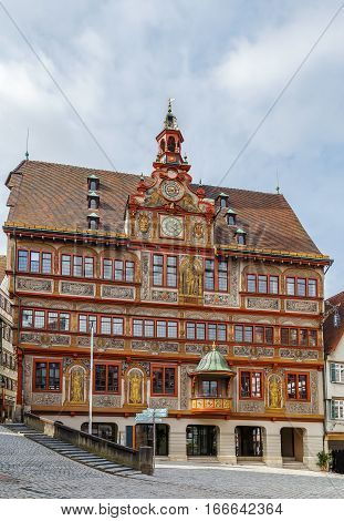 Tubingen town hall (Rathaus)) on Market Square Germany