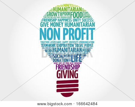 Non Profit Bulb Word Cloud
