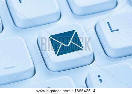 Sending E-mail Email Letter Internet Blue Computer Keyboard