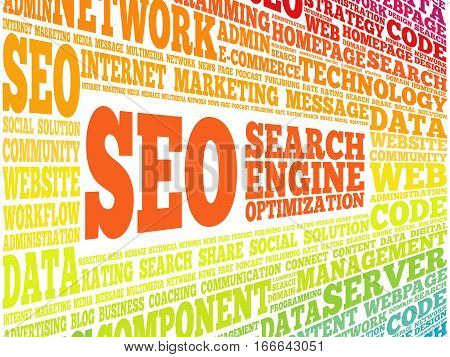 Seo (search Engine Optimization) Word Cloud