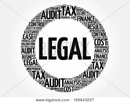 LEGAL word cloud collage, business concept background