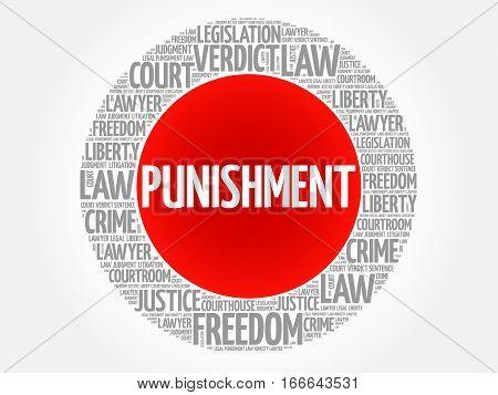 Punishment word cloud , social concept background