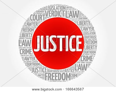Justice word cloud , social concept background