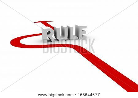 to circumvent the rules on a white background 3D illustration