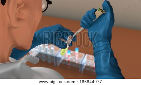 A blood test is a laboratory analysis performed on a blood sample that is usually extracted from a vein in the arm using a needle, or via fingerprick.