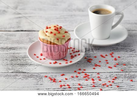 Expresso Coffee Cup And Muffins