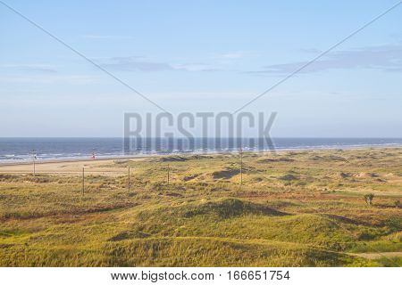 Cassino Beach With Dunes And Vegetation