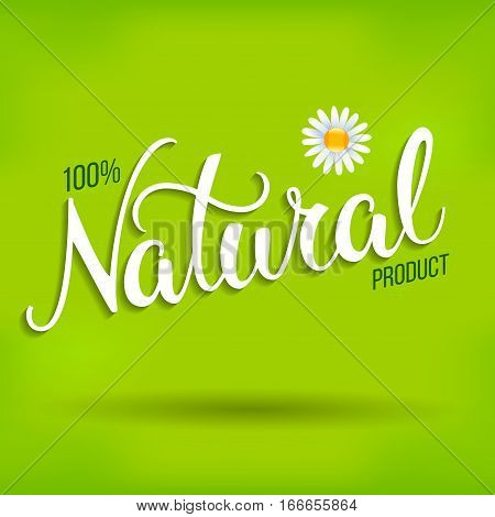 Original Hand Lettering Natural And Eco Design Elements.