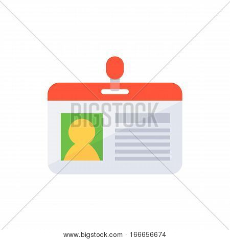 Access and identification document. Flat design style. poster
