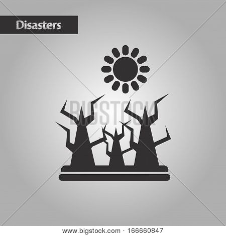 black and white style nature drought disasters