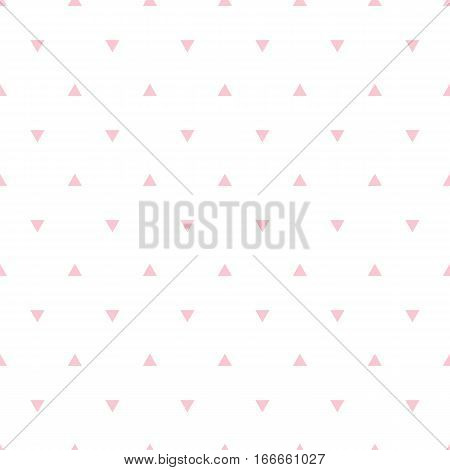 Geometric Pink Seamless Pattern With Triangle