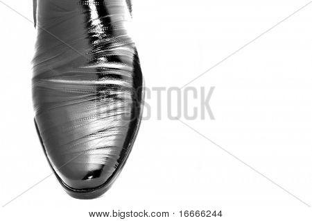 Black shiny man's shoes