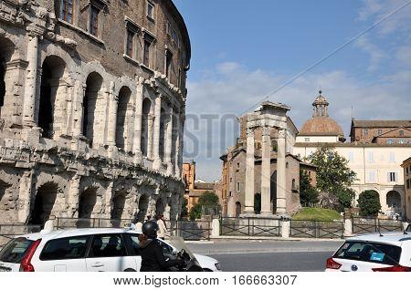 Theatre Of Marcellus (teatro Di Marcello). Rome, Italy