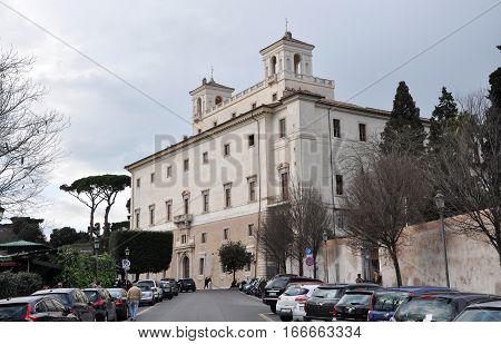 Villa Medici, Borghese Gardens. Rome, Italy