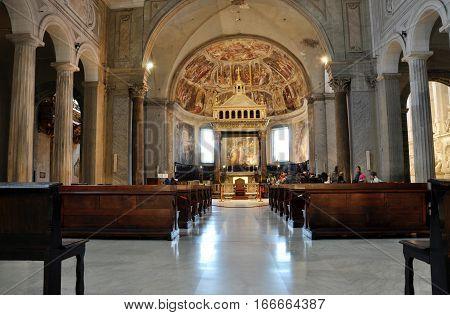 San Pietro In Vincoli Church. Rome, Italy