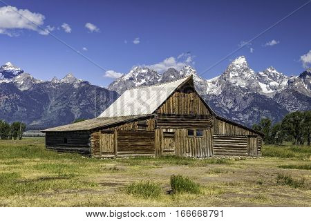 Mormon Style Barn in Grand Tetons National Park Wyoming