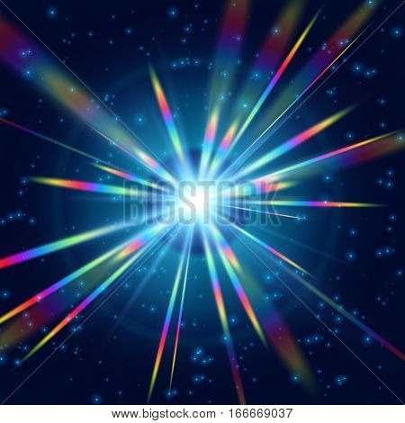 Cosmic Radiation Brighter Rainbow background graphic design