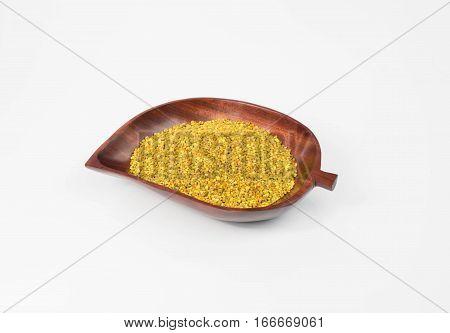 Polen recipiente tipo hoja medera vista superior izquierda