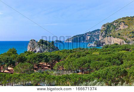 Italy Cilento view of  the Capo Palinuro