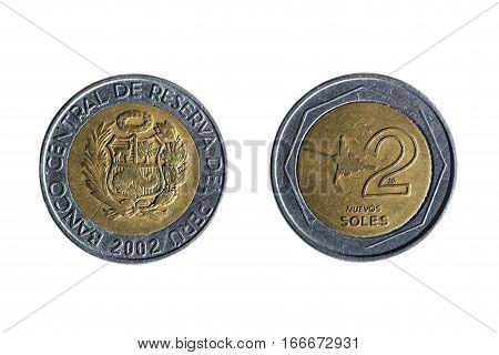 Peruvian Currency Of Two Suns