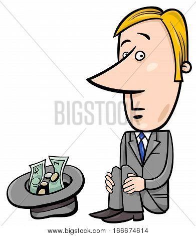 Businessman Beggar Cartoon