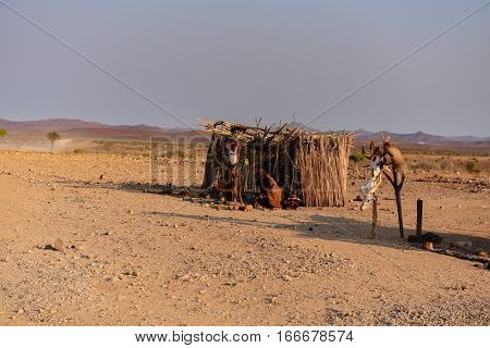 Namibia, South Africa, August 18: Etosha national park camp in the mountains in Namibia South Africa, August 18, 2015 in Namibia, Etosha-national park
