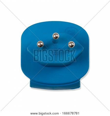 Travel plug as a free plate on white background exempt