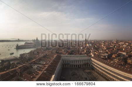 View from viewing platform San Marco Square Venice