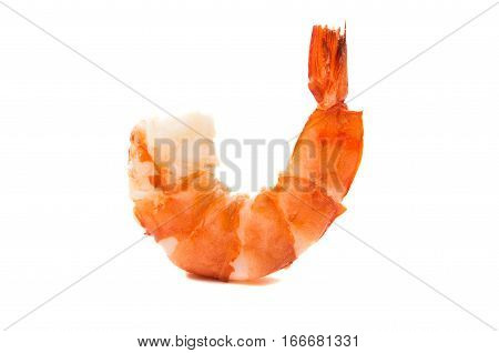 shrimp seafood cooked isolated on white background