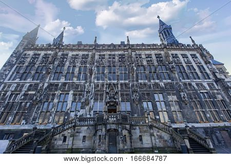 Aachen Town Hall In Germany