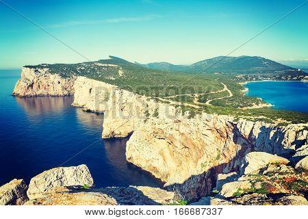 Capo Caccia on a clear day Sardinia