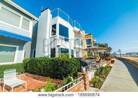 House by the sea in Newport Beach California