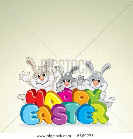 Happy Easter Background. Ready for Your Text and Design.