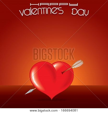 I Love You Background. Abstract Background with a Heart and Arrow. Valentines Day Concept