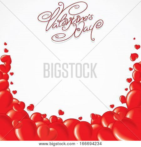 Valentines Day Template Card. Ready for Text and Design.