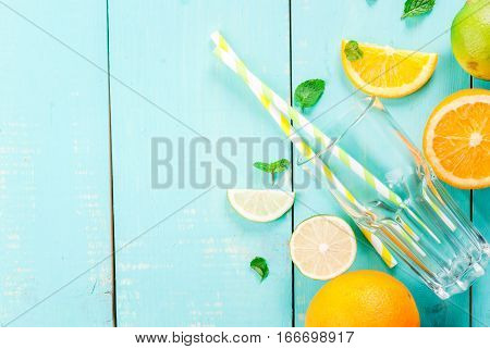 Ingredients For Citrus Juice Or Cocktail