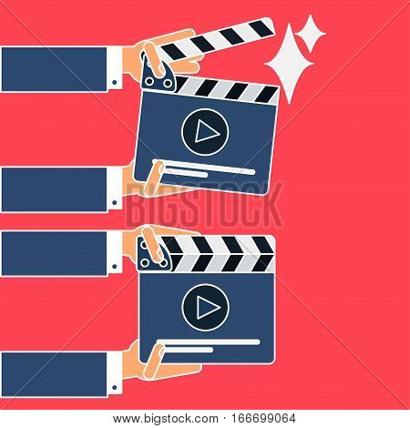 Flat Movie Clapperboard