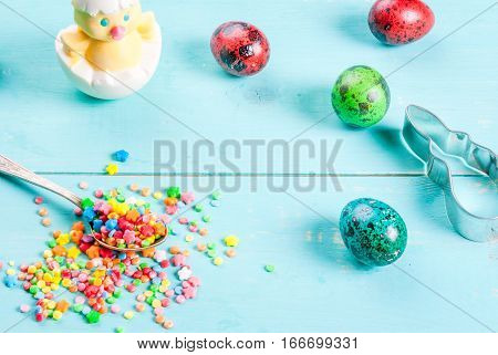 Easter ] With Sprinkles, Cookie Cutter & Eggs