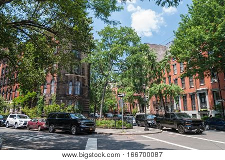 Quite residential streets of East Village, New York
