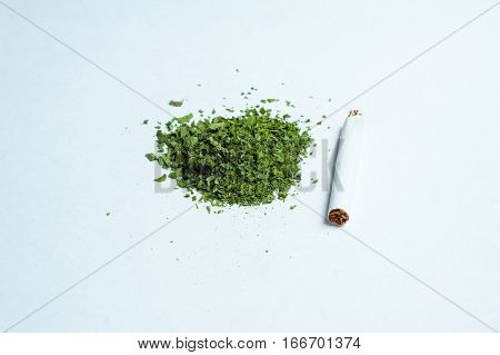 a bunch of dry medicinal cannabis marijuana intended for smoking for medical purposes rastafaray hippi