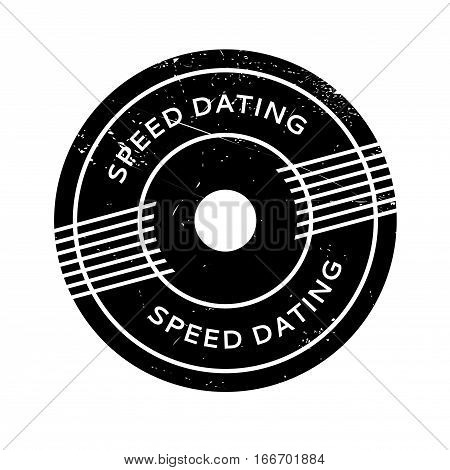 Speed Dating rubber stamp. Grunge design with dust scratches. Effects can be easily removed for a clean, crisp look. Color is easily changed.