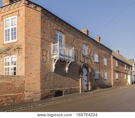 An image of a typical old English property situated in the village of Hoby Leicestershire England UK