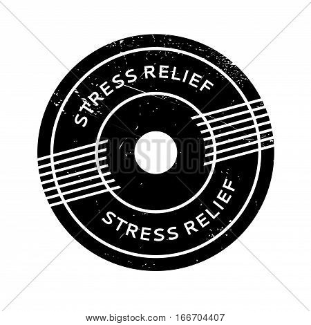 Stress Relief rubber stamp. Grunge design with dust scratches. Effects can be easily removed for a clean, crisp look. Color is easily changed.