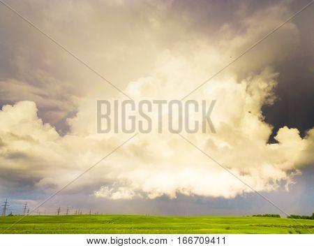 Tornado Coming Gloomy Skies
