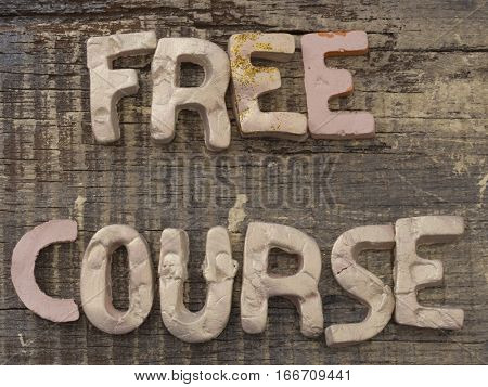 Free Course concept