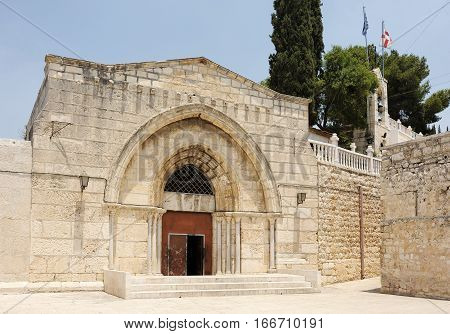 Tomb of the Virgin Mary in the Kidron Valley Jerusalem