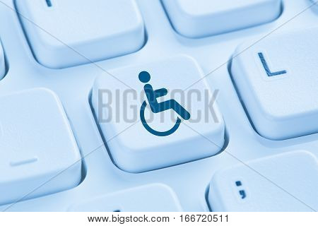 Web Accessibility Online Internet Website Computer For People With Disabilities Blue Keyboard