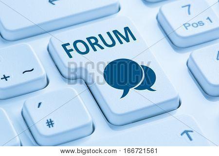 Forum Communication Community Internet Blog Media Discussion Blue Computer Keyboard