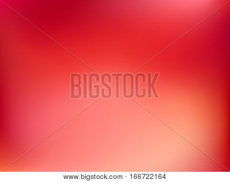 Abstract blur gradient horizontal background with trend pastel red, orange, yellow and maroon colors for deign concepts, wallpapers, web, presentations and prints. Vector illustration.
