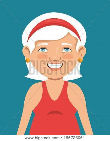 grandma avatar character icon vector illustration design